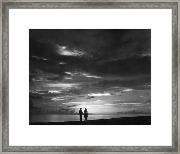 Sunset Over Barbados Framed Print