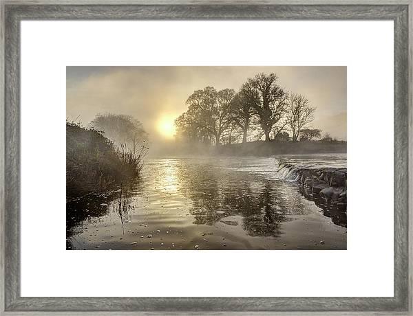 Tamar River Winter  Sunrise, Uk Framed Print