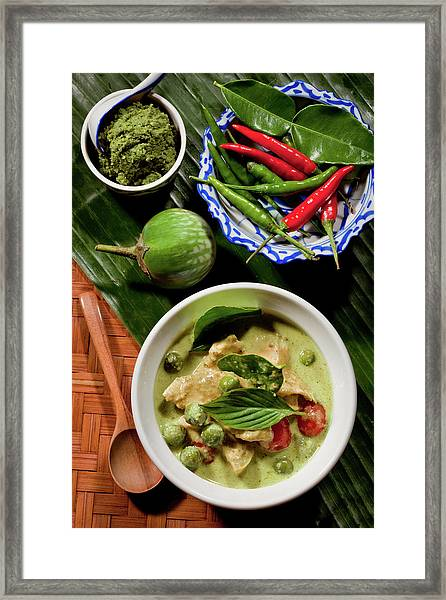 Thai Green Curry With Chicken Framed Print