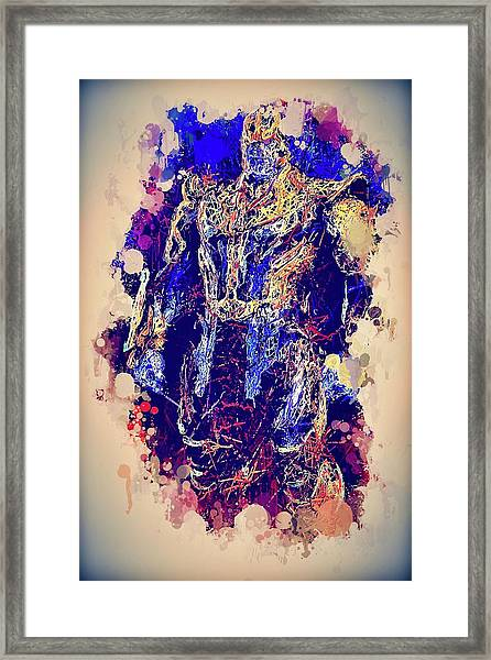 Thanos Watercolor Framed Print