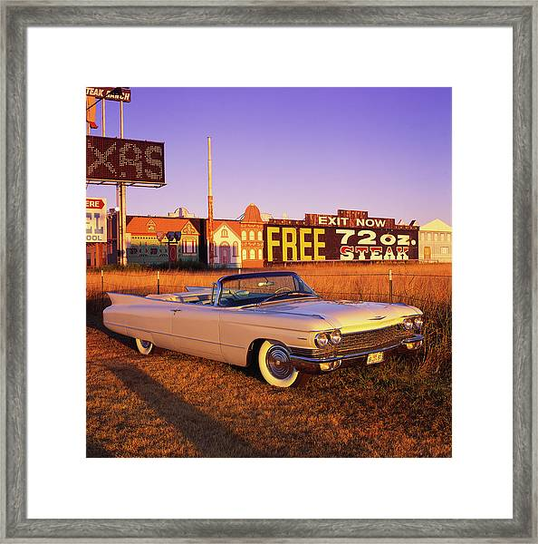 The 1960 Cadillac Series 62 Convertable Framed Print by Car Culture