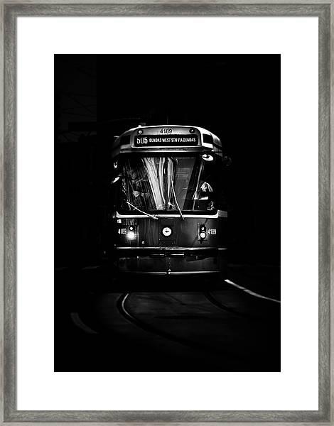The 505 Dundas Streetcar Toronto Canada Framed Print