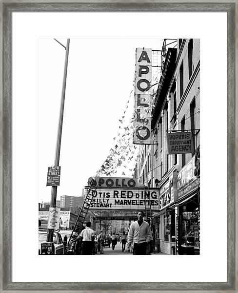 The Apollo Theater In Harlem. Otis Framed Print