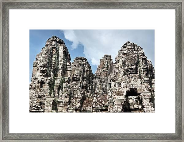 The Bayon, Angkor Thom, Angkor, Unesco Framed Print