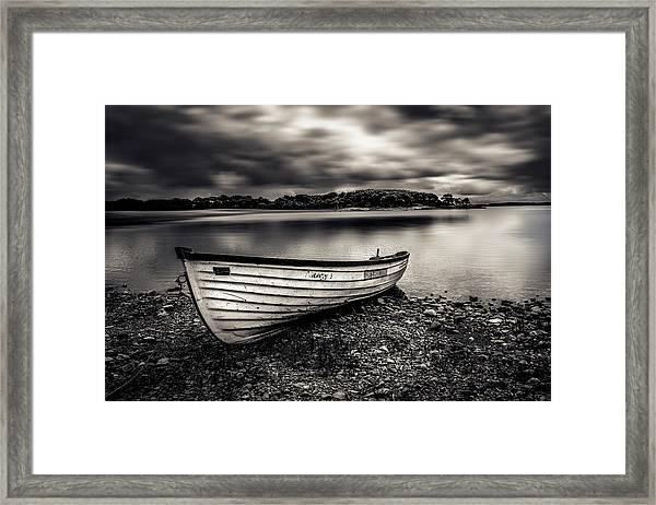 The Lone Boat Framed Print