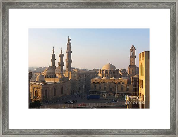 The Minarets Of Cairo, Egypt Framed Print