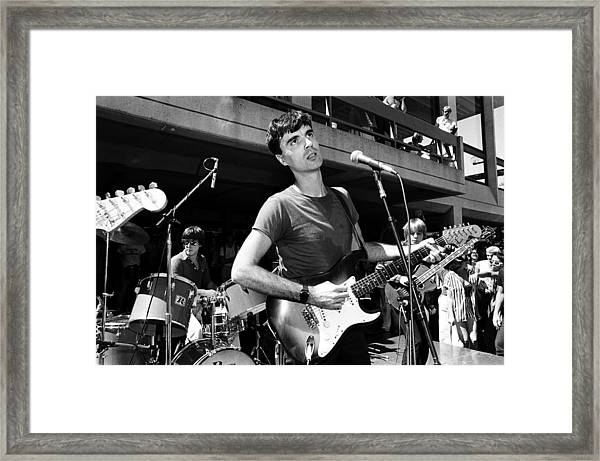 The Talking Heads Perform Live Framed Print