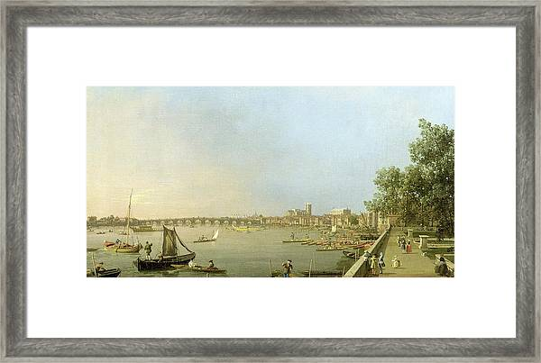 The Thames From The Terrace Of Somerset House Framed Print