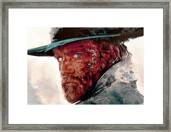 The Wounded Cowboy Framed Print