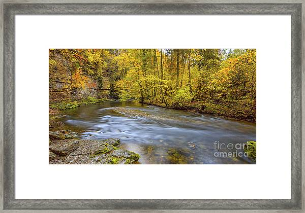 The Wutach Gorge Framed Print