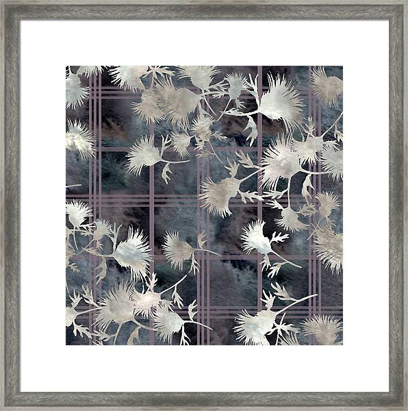 Thistle Plaid  Framed Print
