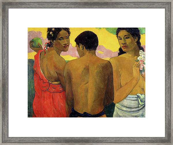 Three Tahitians, 1899 Framed Print