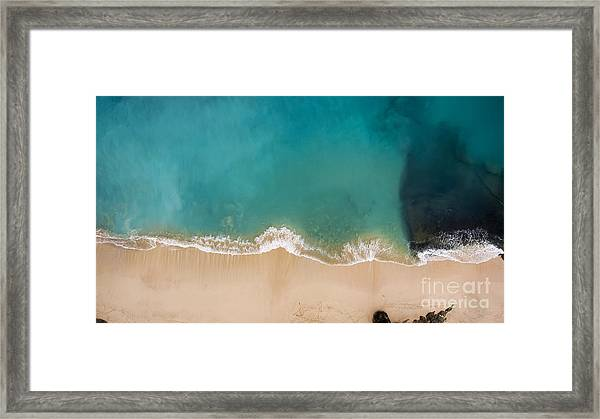 Top View Aerial Photo From Flying Drone Framed Print