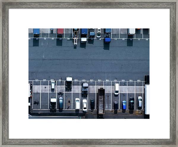 Track Parking Lot Framed Print