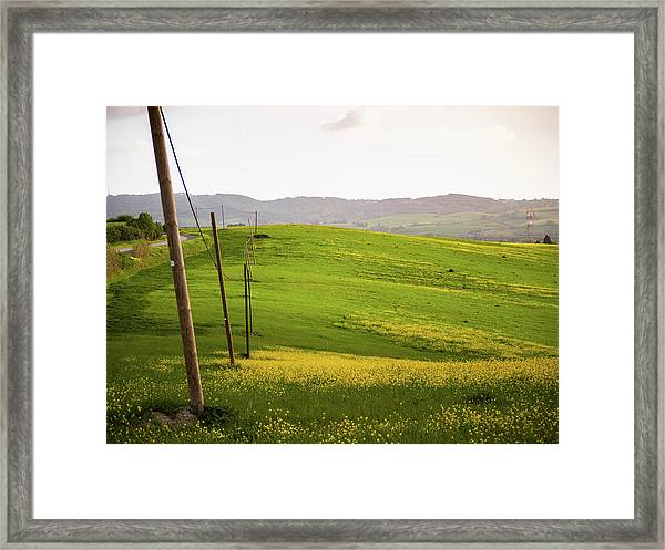Tuscan Landscapes. Hills In The Spring Framed Print