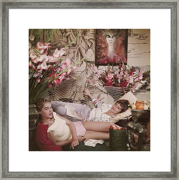 Ursula Andress Framed Print by Slim Aarons