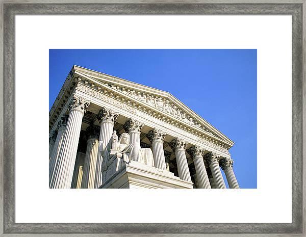 Us Supreme Court Building, Washington Dc Framed Print