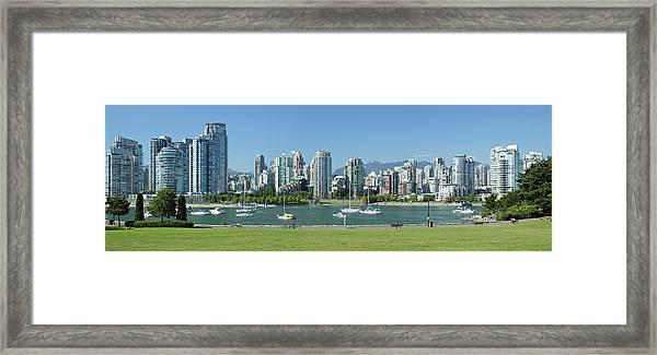 Vancouver Waterfront Skyline Framed Print