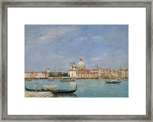 Venice, Santa Maria Della Salute From San Giorgio - Digital Remastered Edition Framed Print