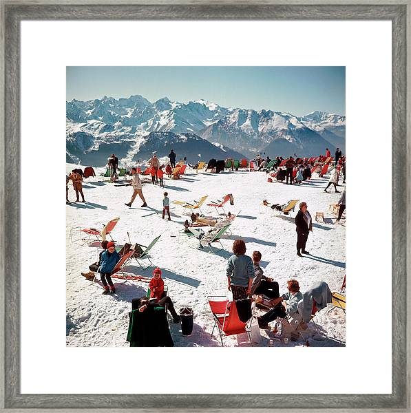 Verbier Vacation Framed Print