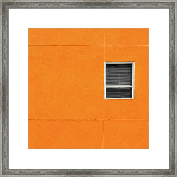 Very Orange Wall Framed Print