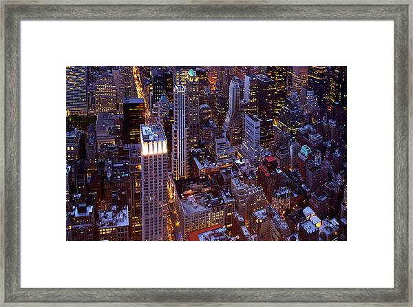 View From The Empire State Building Framed Print
