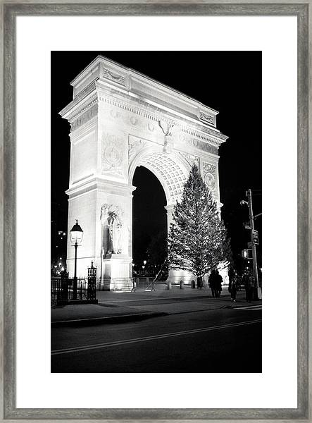 Washington Square Park Arch And Framed Print
