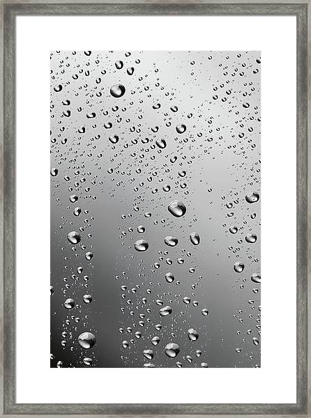 Water Drops Background Dew Condensation Framed Print by Ultramarinfoto