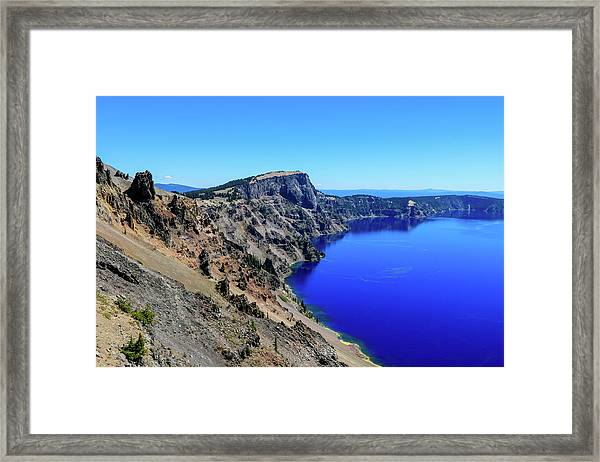 Framed Print featuring the photograph West Rim Of Crater Lake by Dawn Richards