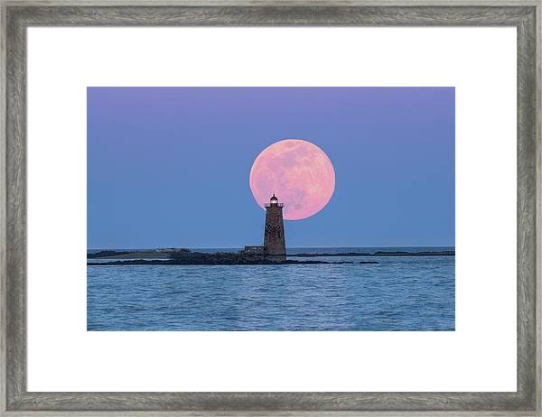 Whaleback And The Worm Moon Framed Print