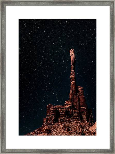 When The Earth Meets The Sky Framed Print