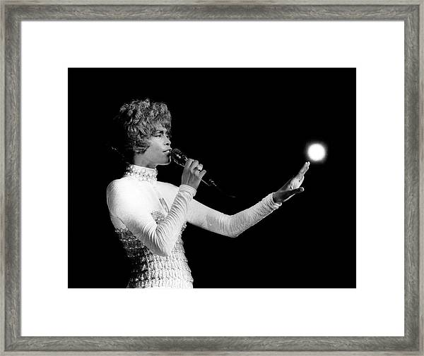 Whitney Houston Live In Concert Framed Print