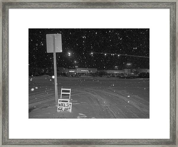 Will Sit For Art / The Chair Project Framed Print