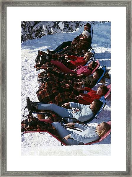 Winter Suntans Framed Print