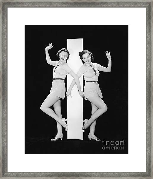 Women Posing With Big Letter I Framed Print by Everett Collection