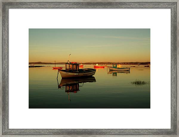 10/11/13 Morecambe. Boats On The Bay. Framed Print