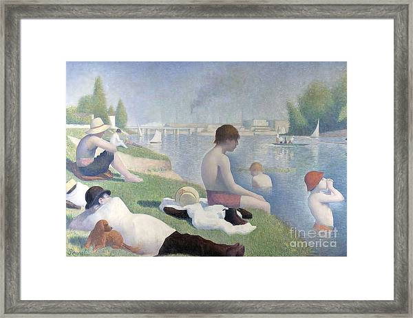 Bathers At Asnieres Framed Print