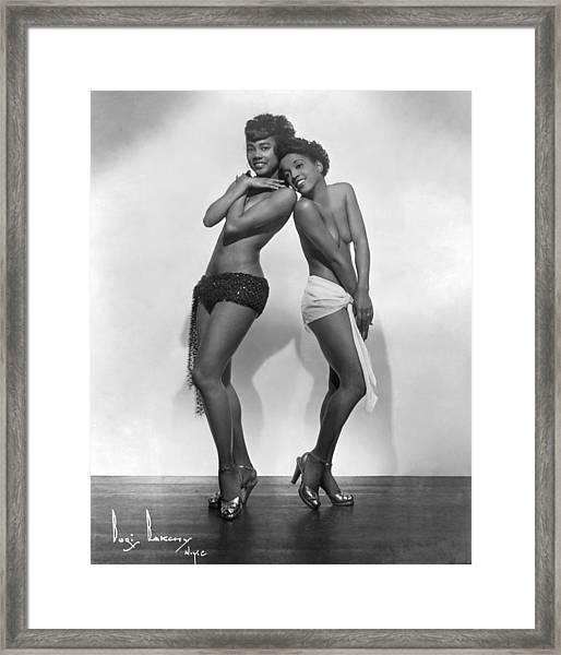 Brown Skin Models Framed Print by Michael Ochs Archives