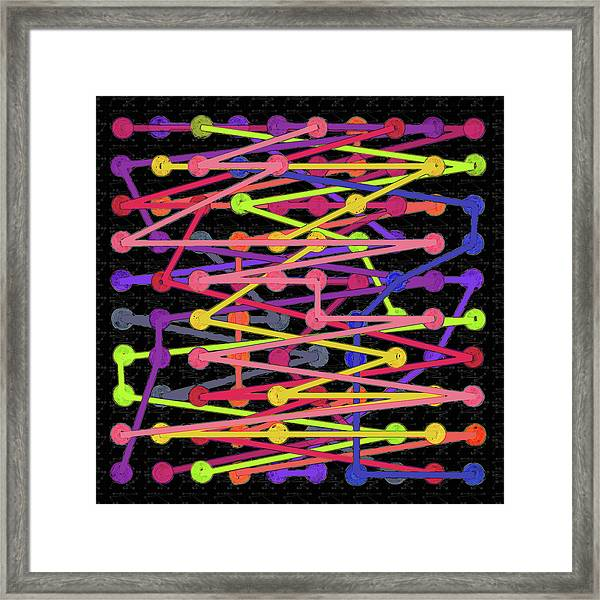 100 Significant And Connected Figures Of Pi Framed Print