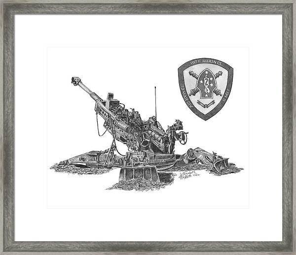 10th Marines 777 Framed Print