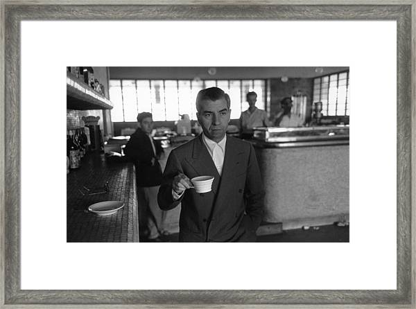 Lucky Luciano Framed Print by Slim Aarons