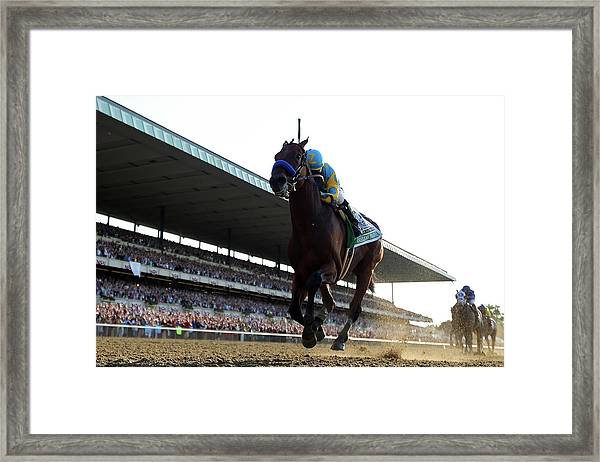 147th Belmont Stakes Framed Print by Rob Carr