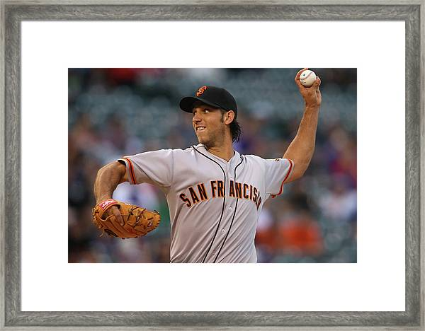 San Francisco Giants V Colorado Rockies Framed Print
