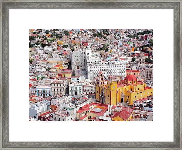 16th Century Colonial Buildings In The Framed Print