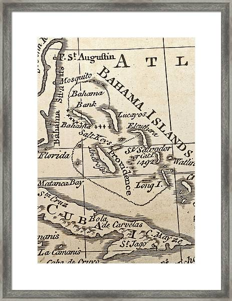 1776 Map Of Caribbean West Indies Framed Print by Historic Map Works Llc