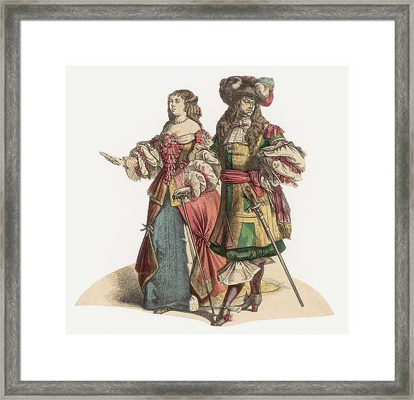 17th Century Fashion Framed Print