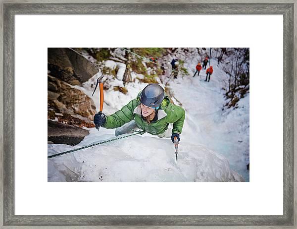 Ice Climbing Framed Print