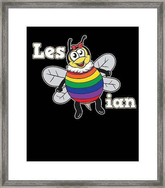 Gay Lesbian Lgbt Bisexual Homosexual Pansexual Trans Queer Gender Rainbow Framed Print