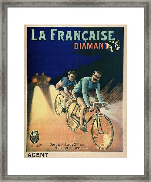1911 Tour De France Poster Framed Print