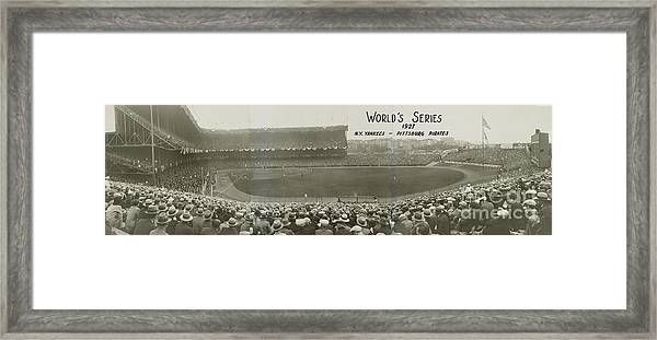 1927 World Series At Yankee Stadium Framed Print